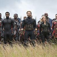 Avengers 3: Infinity War : Bild Chadwick Boseman, Chris Evans, Danai Gurira, Scarlett Johansson, Sebastian Stan