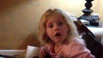 Kleines Mädchen erfährt, dass Darth Vader der Vater von Luke ist