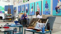 David Hockney in der Royal Academy of Arts Trailer DF