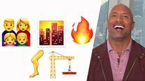 Wir spielen mit Dwayne Johnson einen Emoji-Quiz - kann er seine eigenen Filme erraten?