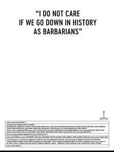 """""""Mir ist es egal, wenn wir als Barbaren in die Geschichte eingehen"""" Trailer OV"""