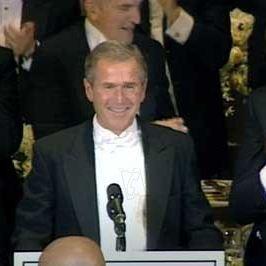 Fahrenheit 9/11 : Bild George W. Bush, Michael Moore