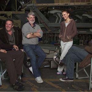Star Wars: Episode III - Die Rache der Sith : Bild Ewan McGregor, George Lucas, Hayden Christensen, Natalie Portman, Rick McCallum