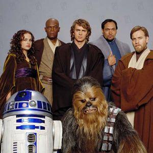 Star Wars: Episode III - Die Rache der Sith : Bild Ewan McGregor, Hayden Christensen, Jimmy Smits, Kenny Baker, Natalie Portman