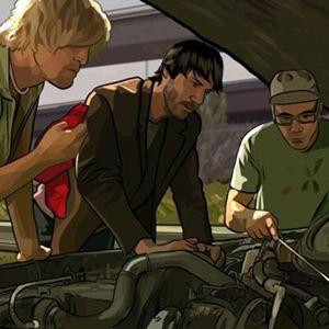A Scanner Darkly - Der dunkle Schirm : Bild Keanu Reeves, Robert Downey Jr., Woody Harrelson