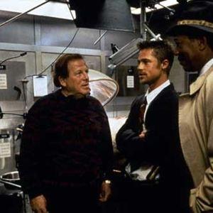 Sieben : Bild Arnold Kopelson, Brad Pitt, Morgan Freeman
