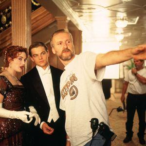 Titanic : Bild James Cameron, Kate Winslet, Leonardo DiCaprio