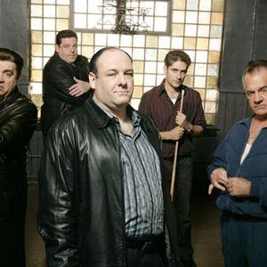 Die Sopranos : Bild James Gandolfini, Michael Imperioli, Steve Schirripa, Steve Van Zandt, Tony Sirico
