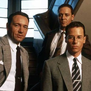 L.A. Confidential : Bild Guy Pearce, Kevin Spacey, Russell Crowe