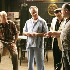 Die Sopranos : Bild Dan Grimaldi, James Gandolfini, Michael Imperioli, Steve Van Zandt, Tony Sirico