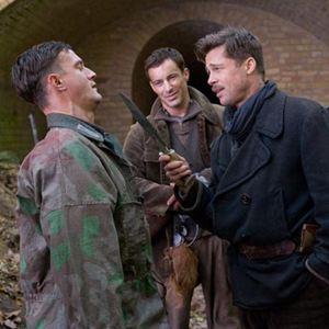 Inglourious Basterds : Bild Brad Pitt, Gedeon Burkhard, Sönke Möhring