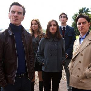 X-Men: Erste Entscheidung : Bild James McAvoy, Jennifer Lawrence, Matthew Vaughn, Michael Fassbender, Rose Byrne