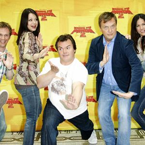 Kung Fu Panda 2 : Bild Bettina Zimmermann, Cosma Shiva Hagen, Hape Kerkeling, Jack Black, Ralf Schmitz