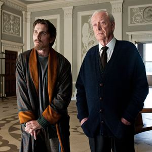 The Dark Knight Rises : Bild Christian Bale, Michael Caine