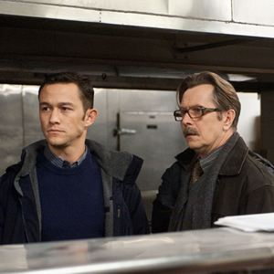 The Dark Knight Rises : Bild Gary Oldman, Joseph Gordon-Levitt