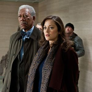 The Dark Knight Rises : Bild Marion Cotillard, Morgan Freeman