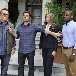 Bild Dule Hill, James Roday, Mira Sorvino, Tom Arnold