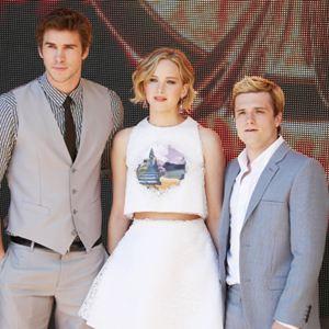 Die Tribute von Panem 3 - Mockingjay Teil 1 : Vignette (magazine) Jennifer Lawrence, Josh Hutcherson, Liam Hemsworth