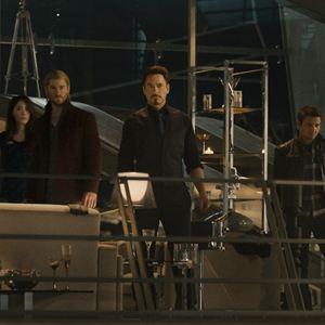 Avengers 2: Age Of Ultron : Bild Chris Evans, Chris Hemsworth, Claudia Kim, Cobie Smulders, Don Cheadle