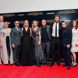 Die Tribute von Panem 4 - Mockingjay Teil 2 : Vignette (magazine) Donald Sutherland, Elizabeth Banks, Gwendoline Christie, Jennifer Lawrence, Josh Hutcherson