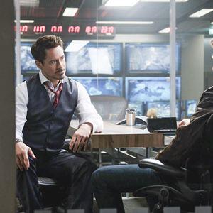 The First Avenger: Civil War : Bild Chris Evans, Robert Downey Jr.