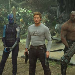 Guardians Of The Galaxy Vol. 2 : Bild Chris Pratt, Dave Bautista, Karen Gillan, Zoe Saldana