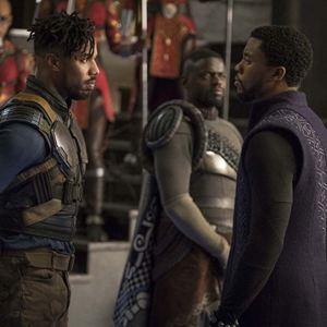 Black Panther : Bild Chadwick Boseman, Daniel Kaluuya, Michael B. Jordan