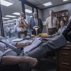 Die Verlegerin : Bild Bob Odenkirk, Bradley Whitford, Bruce Greenwood, Carrie Coon, Tom Hanks
