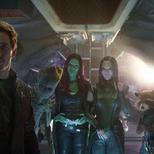 Avengers 3: Infinity War : Bild Chris Pratt, Dave Bautista, Pom Klementieff, Zoe Saldana