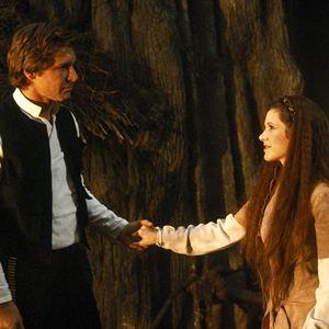 Star Wars: Episode VI - Die Rückkehr der Jedi-Ritter : Bild Carrie Fisher, Harrison Ford