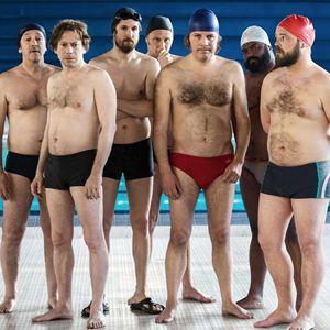 Ein Becken voller Männer : Bild Alban Ivanov, Benoît Poelvoorde, Guillaume Canet, Jean-Hugues Anglade, Mathieu Amalric