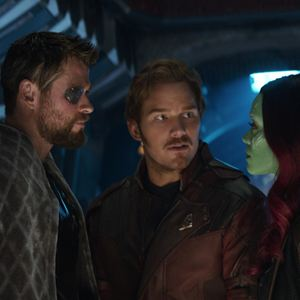 Avengers 3: Infinity War : Bild Chris Hemsworth, Chris Pratt, Zoe Saldana