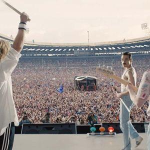 Bohemian Rhapsody : Bild Ben Hardy, Gwilym Lee, Joseph Mazzello, Rami Malek
