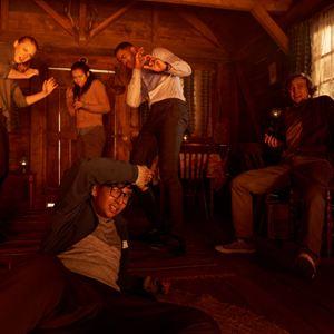 Escape Room : Bild Deborah Ann Woll, Jay Ellis, Logan Miller, Nik Dodani, Taylor Russell McKenzie