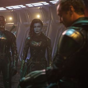 Captain Marvel : Bild Djimon Hounsou, Gemma Chan, Jude Law
