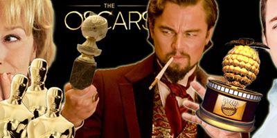 Filmpreis-Quiz: Welchen Schauspielern gehören diese Trophäenschränke?