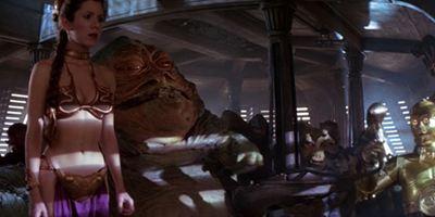"""Amüsant: Carrie """"Leia"""" Fisher über die Wiedervereinigung mit Harrison Ford und Mark Hamill, den Tod von Jabba – und den goldenen Bikini"""
