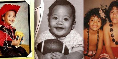 """Vom Baby mit Football zum Scorpion King: Der Weg von Dwayne """"The Rock"""" Johnson zum Hollywoodstar in 26 Bildern"""