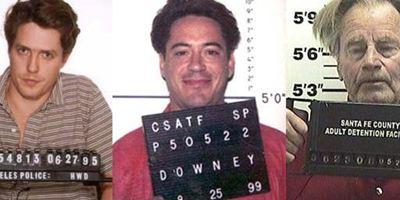 Verhaftet: 44 wilde Verbrecherfotos der Filmstars