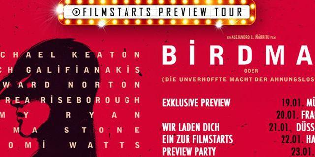 """allourhomes.net-Preview-Club: Wir laden euch ein, mit uns """"Birdman"""" als Vorpremiere anzuschauen!"""