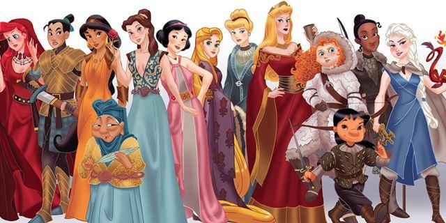 """Cinderella Stark, Elsa Targaryen & Co.: So würden die Disney-Prinzessinnen als """"Game Of Thrones""""-Charaktere aussehen"""