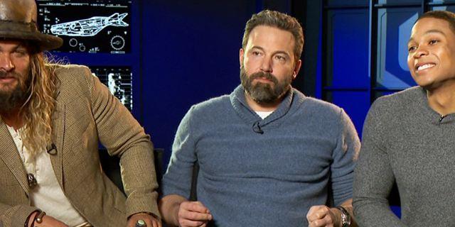 "Das FILMSTARTS-Interview zu ""Justice League"" mit Ben Affleck, Henry Cavill, Gal Gadot, Jason Momoa und Ray Fisher"