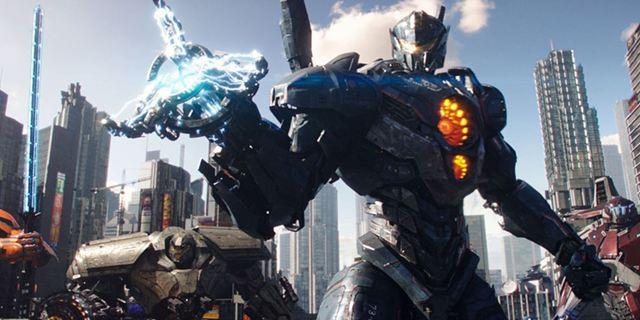 """""""Pacific Rim 2: Uprising"""": Auf dem neuen Poster zum Actionspektakel sind die Jaeger auf Krawall gebürstet"""