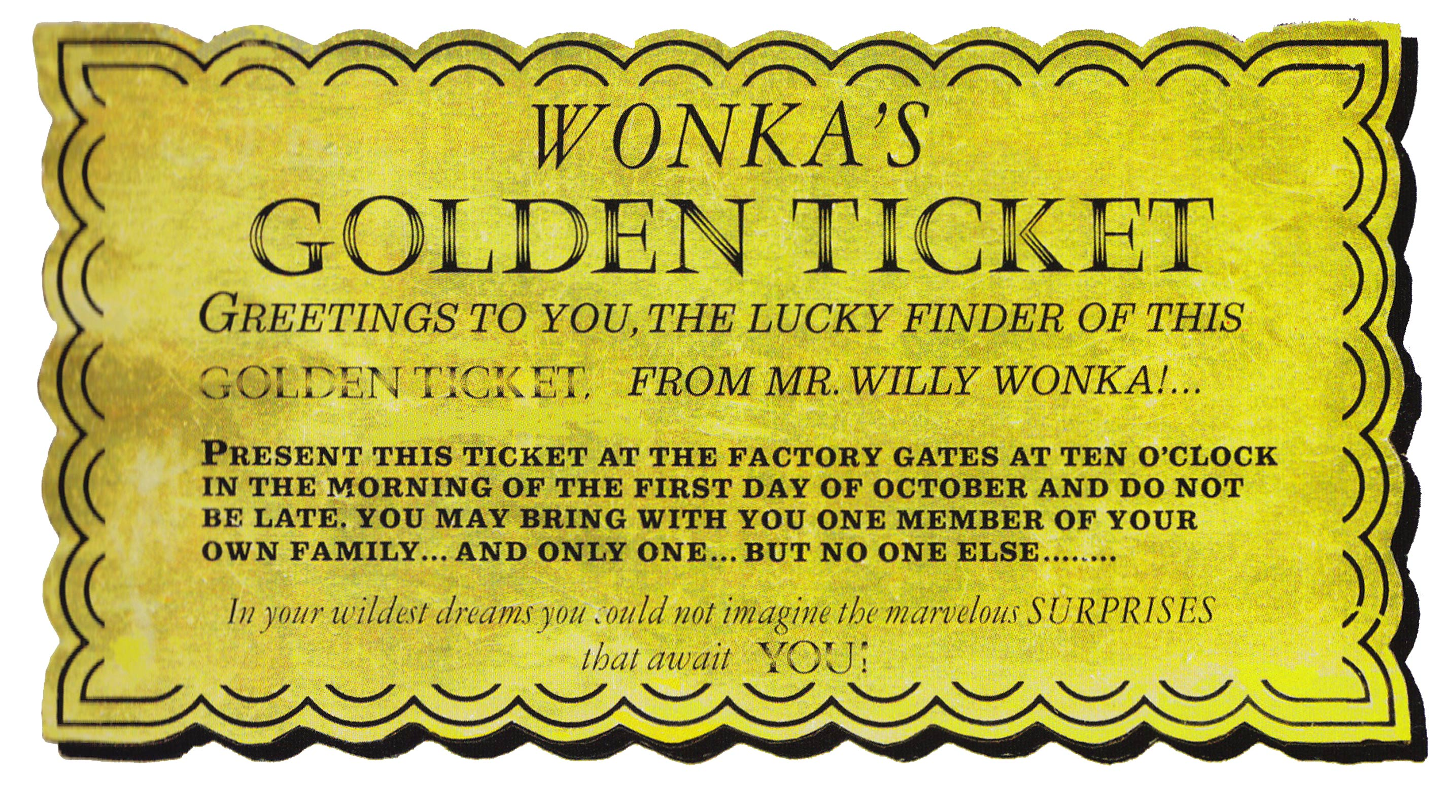 It's just a photo of Stupendous Willy Wonka Golden Ticket Printable