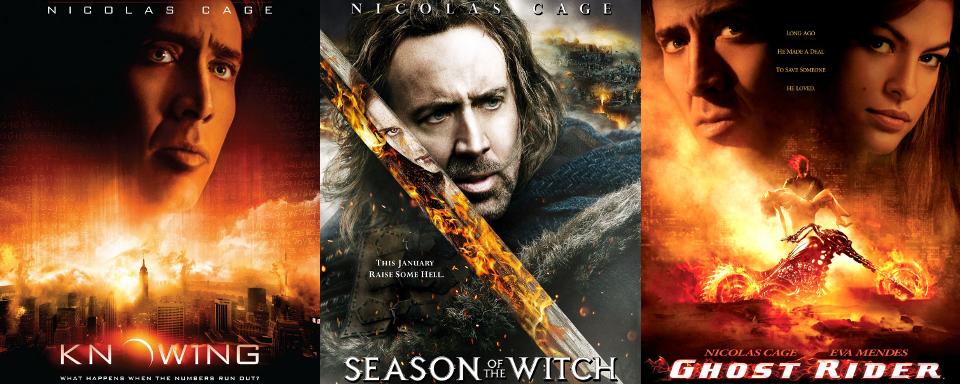 Explosiv 16 Filmposter Auf Denen Nicolas Cage Mit Dem