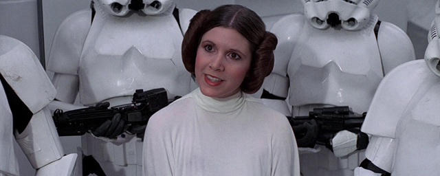 post carrie fisher als prinzessin leia aus star wars