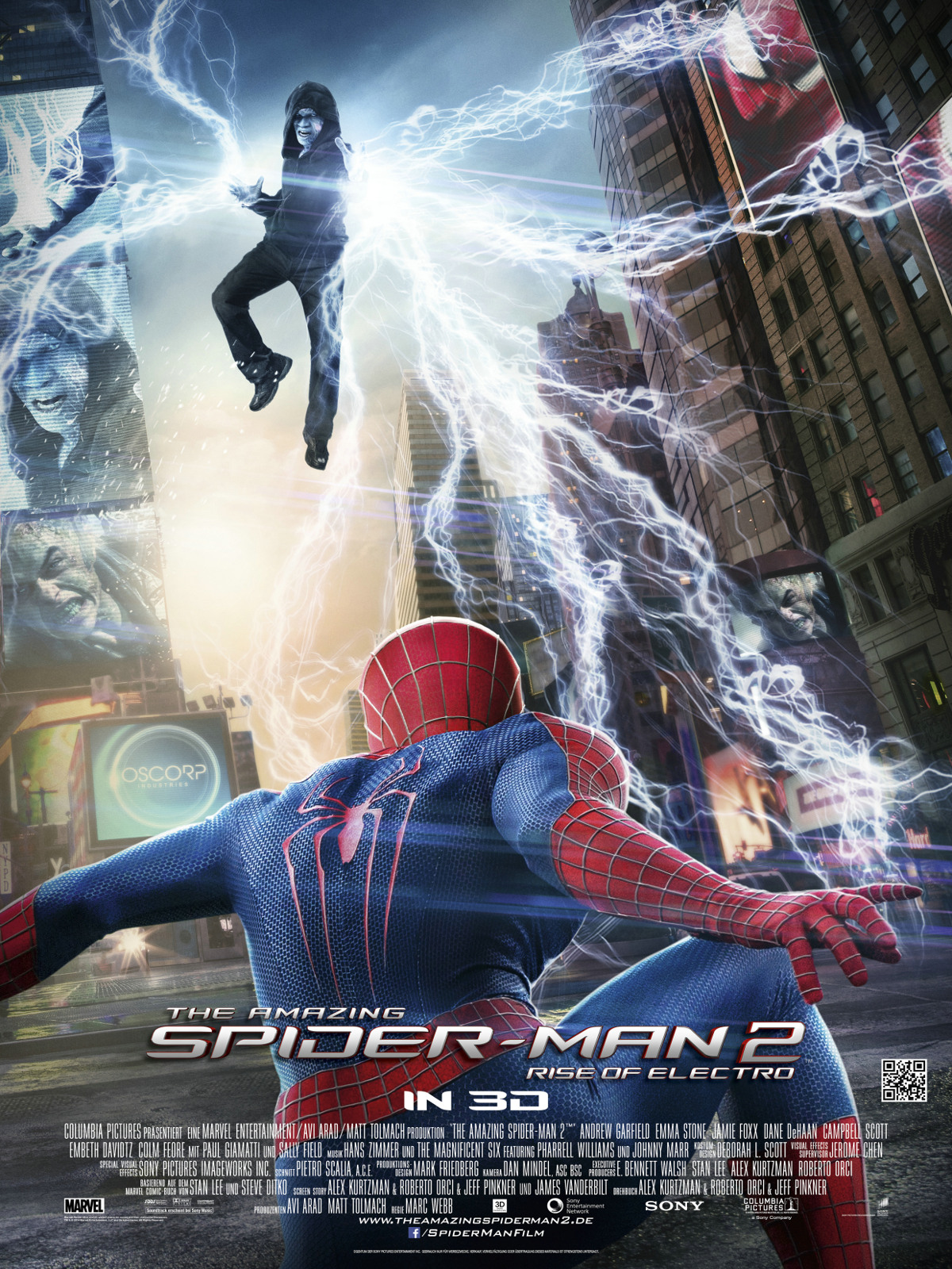 the amazing spider man 2 rise of electro film 2014. Black Bedroom Furniture Sets. Home Design Ideas