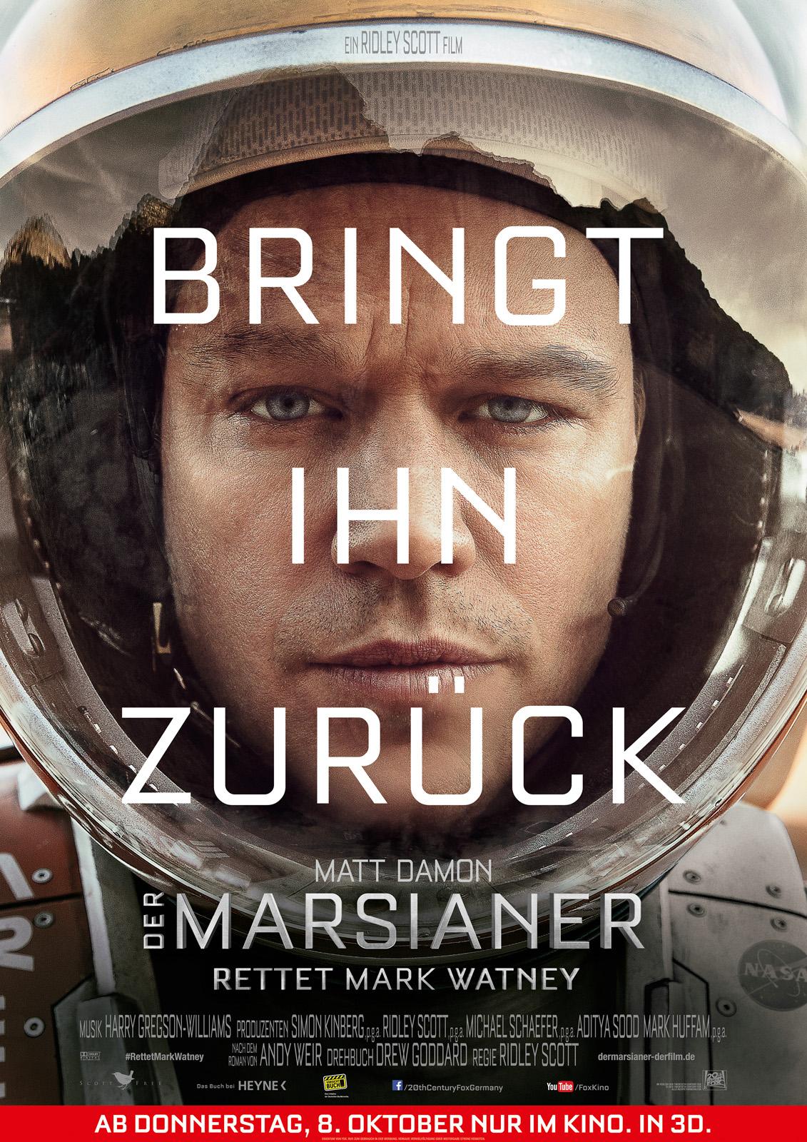 Der Marsianer – Rettet Mark Watney Besetzung