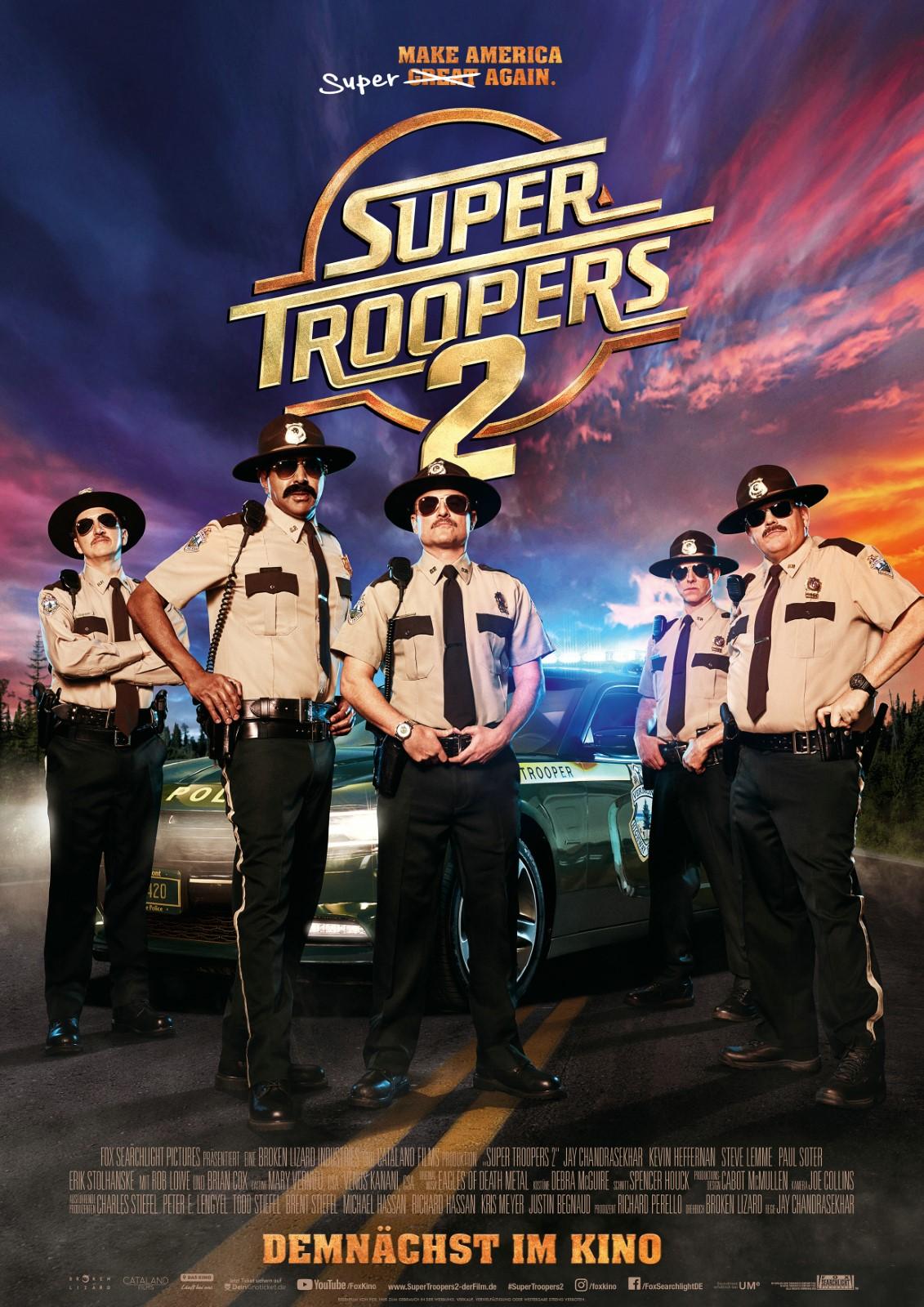 Anschauen Super Troopers 2 film in Deutsch mit Untertiteln in FULL HD
