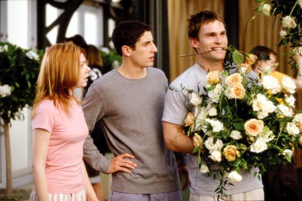 American Pie – Jetzt wird geheiratet : Bild Alyson Hannigan, Jason Biggs, Jesse Dylan, Seann William Scott